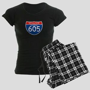 Interstate 605 - CA Women's Dark Pajamas