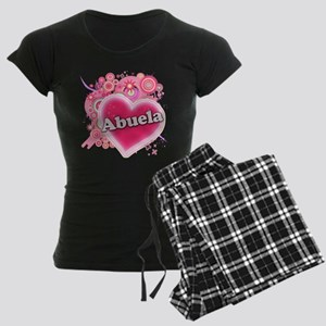 Abuela Heart Art Women's Dark Pajamas