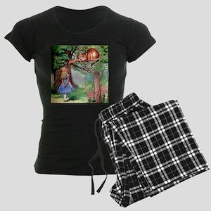 Alice and the Cheshire Cat Women's Dark Pajamas