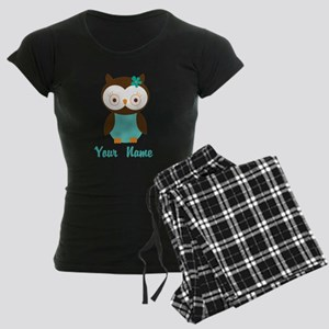 Personalized Owl Women's Dark Pajamas