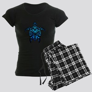 Black Tribal Turtle Pajamas