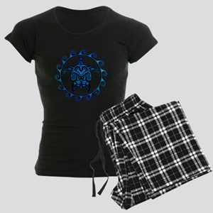 Maori Tribal Blue Turtle Pajamas