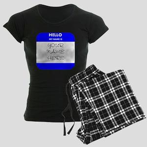 Custom Blue Name Tag pajamas
