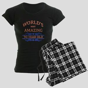 World's Most Amazing 90 Year Women's Dark Pajamas