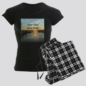 ONE DAY AT A TIME Women's Dark Pajamas