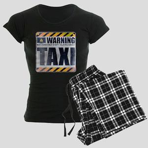 Warning: Taxi Women's Dark Pajamas