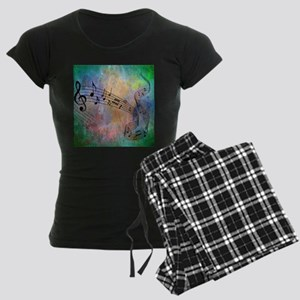 Abstract Music Women's Dark Pajamas