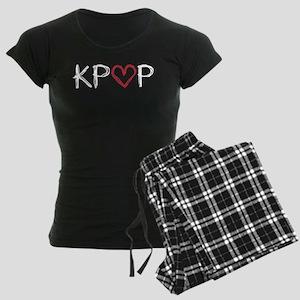 KPOP Love Scribble Women's Dark Pajamas