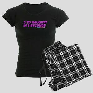 0 To Naughty In 6 Seconds Women's Dark Pajamas