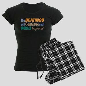 Beatings Will Continue - Women's Dark Pajamas
