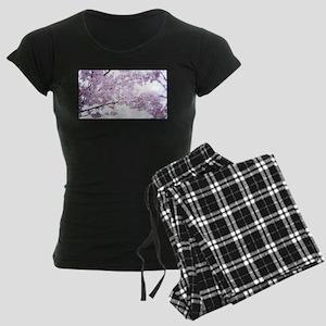 Cherry Blossoms Women's Dark Pajamas