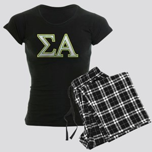 Sigma Alpha Letters Women's Dark Pajamas