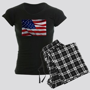 United States Flag in All He Women's Dark Pajamas