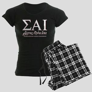 Sigma Alpha Iota Letters Women's Dark Pajamas