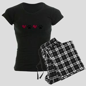 Love Pets Women's Dark Pajamas