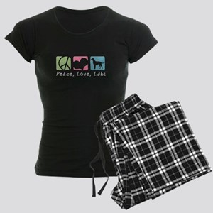 Peace, Love, Labs Women's Dark Pajamas