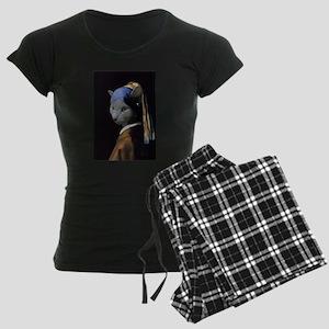 Vermeer Art Parody Women's Dark Pajamas