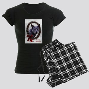 Australian Cattle Dog Christ Women's Dark Pajamas