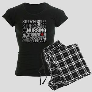 Nursing Student Text Women's Dark Pajamas