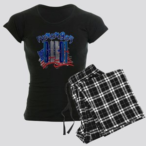 Remember 9/11 - 9-11-01 Twin Women's Dark Pajamas