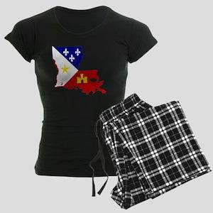 Acadiana State of Louisiana Women's Dark Pajamas