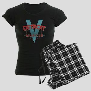 Detroit Muscle red n blue Women's Dark Pajamas