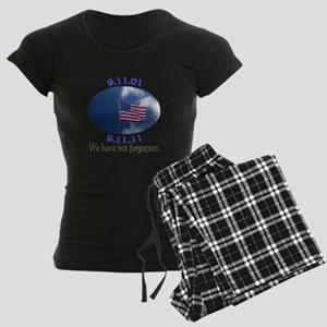 9-11 Not Forgotten Women's Dark Pajamas