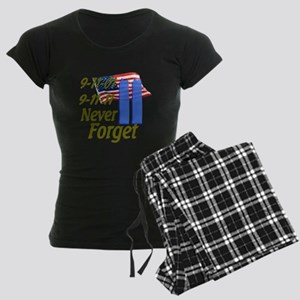 9-11 / Flag / Never Forget Women's Dark Pajamas