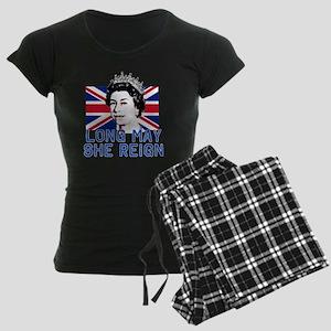 Queen Elizabeth II:  Long Ma Women's Dark Pajamas