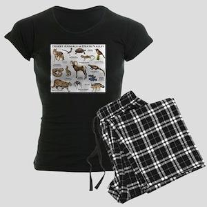 Animals of Death Valley Women's Dark Pajamas