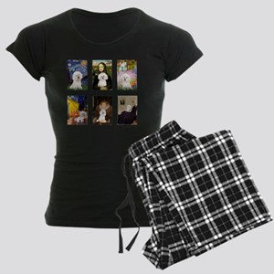 FamousArt-BichonFrise-CLEAR Women's Dark Pajamas