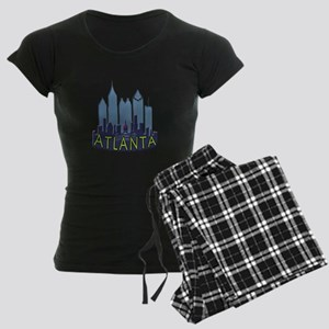 Atlanta Skyline Newwave Cool Women's Dark Pajamas