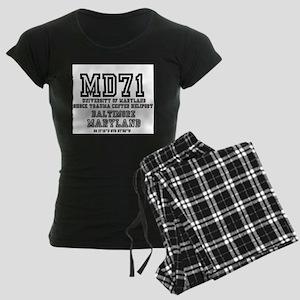 UNIVERSITY AIRPORT CODES - M Women's Dark Pajamas