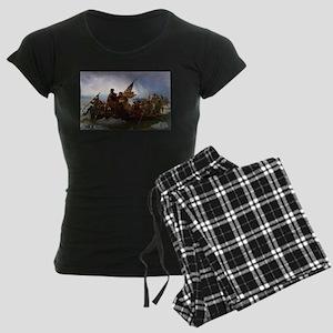 Washington Crossing the Dela Women's Dark Pajamas