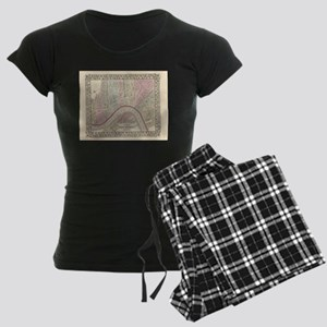 Vintage Map of New Orleans ( Women's Dark Pajamas