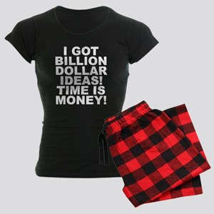 Time Is Money Women's Dark Pajamas