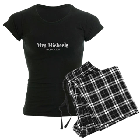 Personal Mrs since wedding date Women's Pajamas