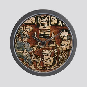 MAYAN COCOA CEREMONY Wall Clock