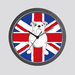 English Bulldog Flag Wall Clock