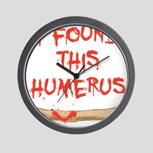 Found this humerus Wall Clock