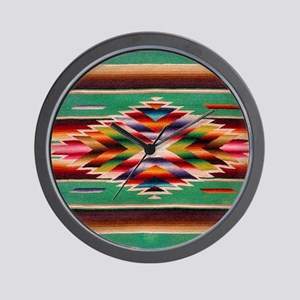 Southwest Weaving Wall Clock