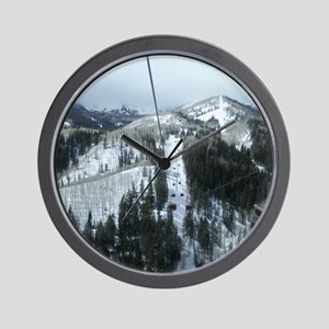 Mountain Gondola Ride Wall Clock