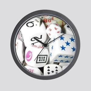 Lets Roll - White Dice Wall Clock