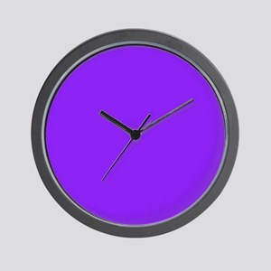 Neon Purple Solid Color Wall Clock