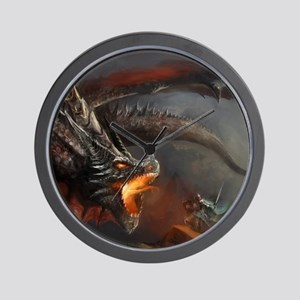 Dragon and Knight Wall Clock