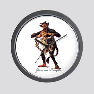 Gruss vom (Greetings From) Krampus Wall Clock