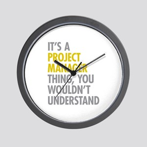Project Manager Thing Wall Clock