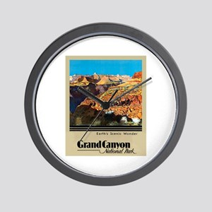 Grand Canyon Travel Poster 2 Wall Clock