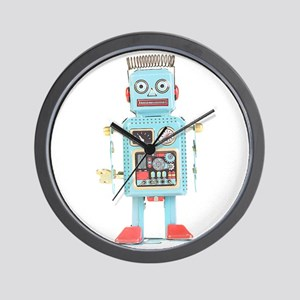 Classic Tin Robot Wall Clock