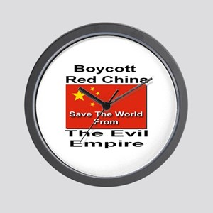 Boycott Red China Wall Clock